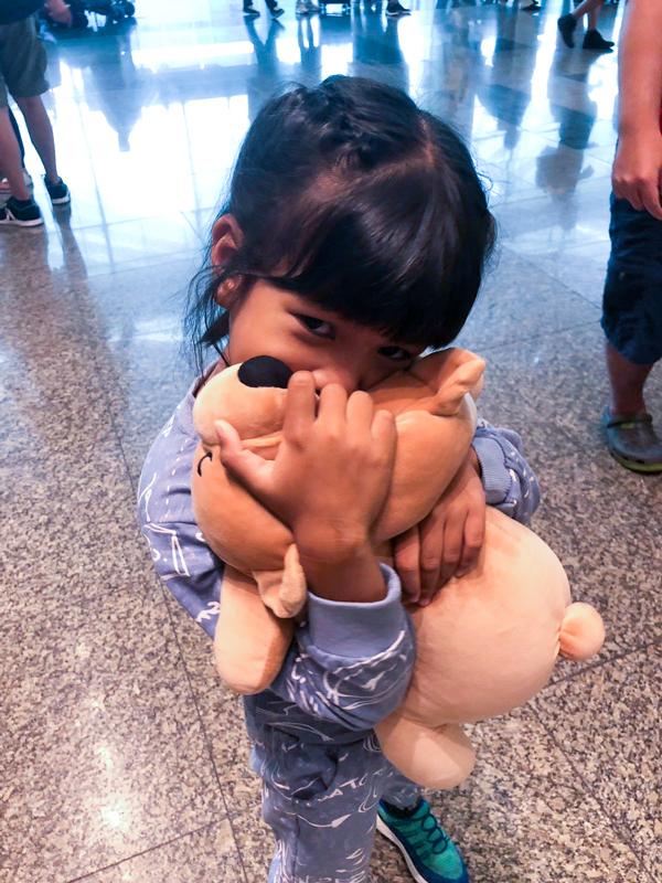 Channey hugging Bobo