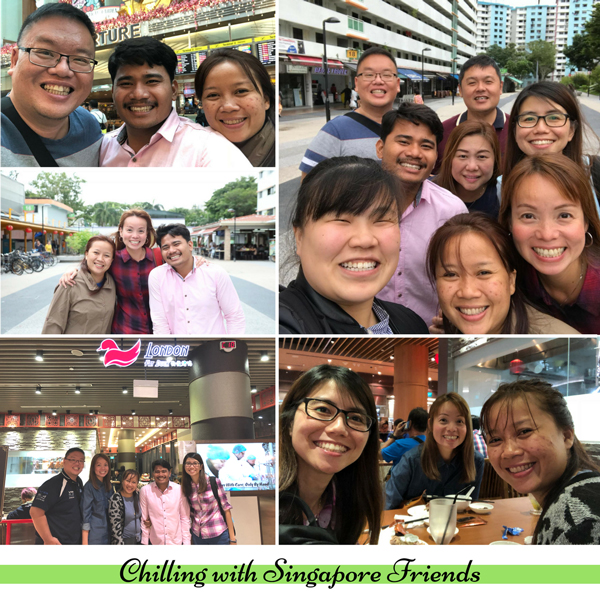 Chilling with Singapore friends