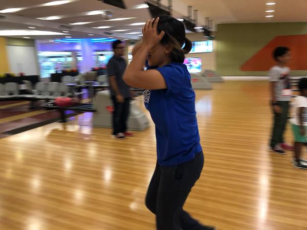 Thyda goes bowling