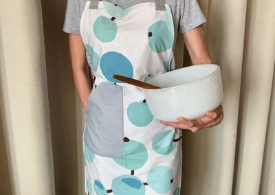 Summer Berries Apron with Big Pocket